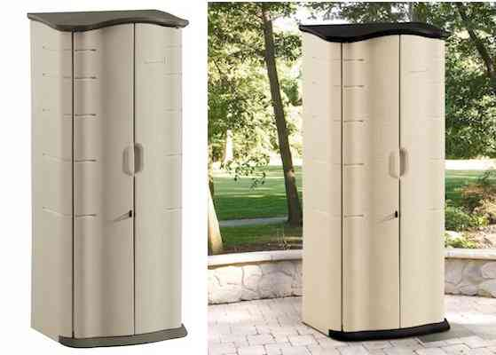 Rubbermaid Outdoor Vertical Storage Shed Plastic