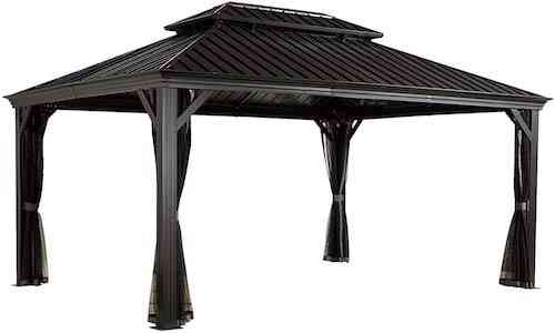 Sojag Messina Hard Top Sun 12x16 Shelter Gazebo