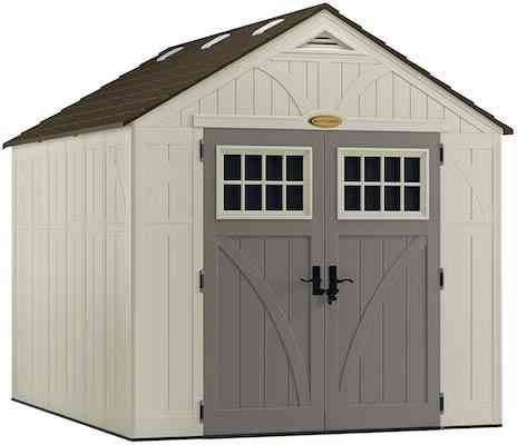 Suncast 8' x 10' Tremont Storage Shed for Backyard Tools and Accessories
