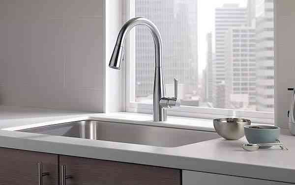 Delta Faucet Essa Single-Handle Kitchen Sink Faucet with Pull Down Sprayer