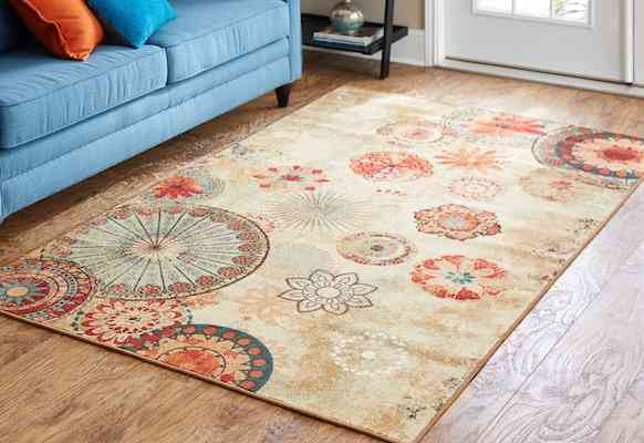 Mohawk Home Alexa Medallion Indoor: Outdoor Printed Area Rug, 5'x8', Multicolor