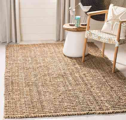 Safavieh Natural Fiber Collection NF447A Hand Woven Natural Jute Area Rug (5' x 8')