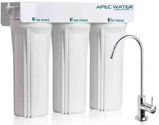 APEC WFS-1000 Super Capacity Premium Quality 3 Stage Under Sink Water Filter System