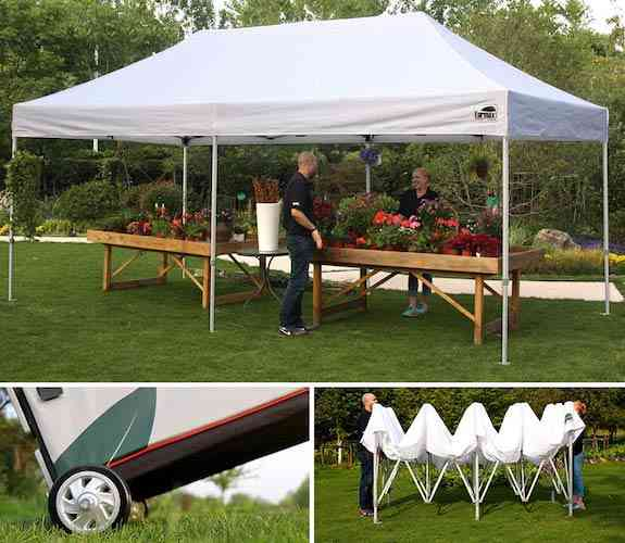 Eurmax Premium 10 x 20 EZ Pop up Canopy Tent