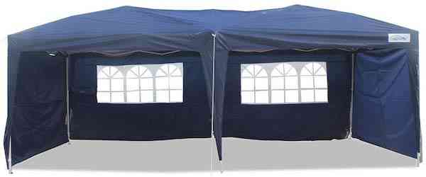 Goutime 10X20 Feet Easy Pop Up Canopy Tent with 4 Removable Sidewalls