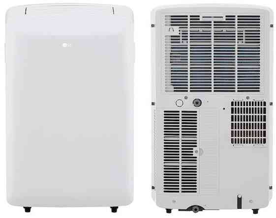 LG LP0817WSR 115V Portable Air Conditioner with Remote Control in White for Rooms up to 150-Sqft