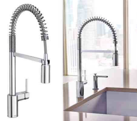 Moen 5923 Align One-Handle Pre-Rinse Spring Pulldown Kitchen Faucet with Power Clean