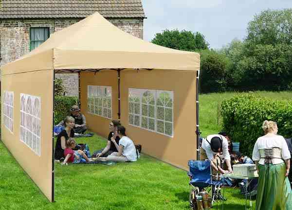 TopCamp 10x20 ft EZ Pop up Canopy with Removable Walls