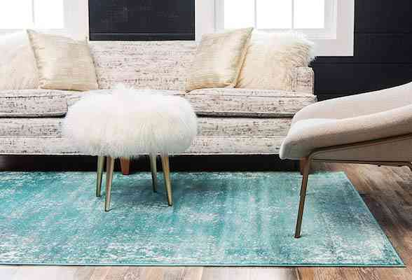 Unique Loom 3137810 Sofia Collection Traditional Vintage Beige Area Rug, 8' x 10' Rectangle, Turquoise