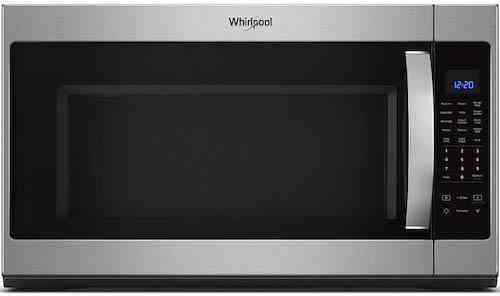 Whirlpool 30 in W 2.1 cu. ft. Over the Range Microwave in Fingerprint Resistant Stainless Steel with Steam Cooking