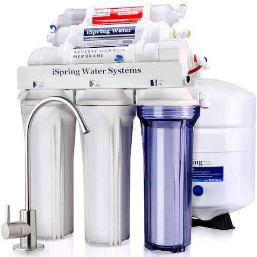 iSpring RCC7AK 6 Stage Under Sink Reverse Osmosis Drinking Water Filter System