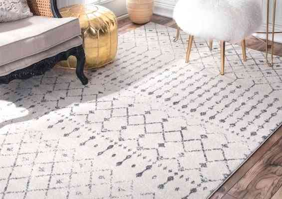 nuLOOM Moroccan Blythe Area Rug, 8' x 10', Grey:Off-white