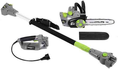 Earthwise CVPS43010 7-Amp 10-Inch Convertible 2-in-1 Corded Electric Pole Saw:Chainsaw, Grey