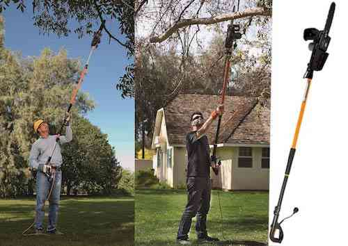Remington RM1025SPS Ranger 8-Amp Electric 2-in-1 Pole Saw & Chainsaw with 10-Foot Telescoping Shaft and 10-Inch Bar for Tree Trimming and Pruning