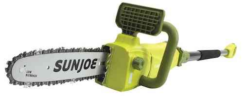 Sun Joe SWJ807E 10 inch 8.0 Amp Electric Convertible Pole Chain Saw, Green