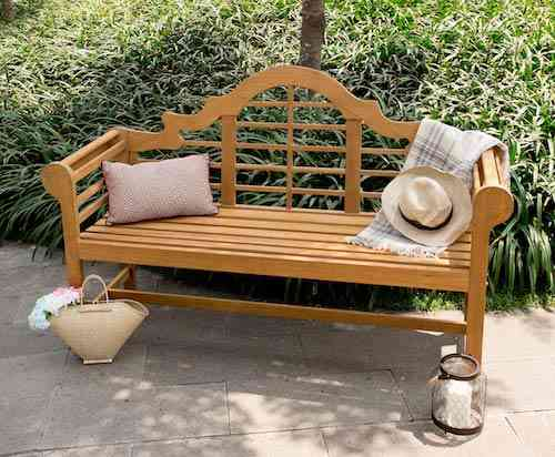 Cambridge-Casual AMZ-150051T Natural Teak Garden Bench