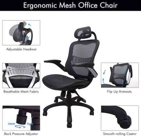 Ergonomic Office Chair, Weight Capacity Over 300Ibs