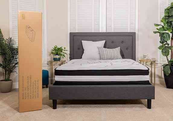 Flash Furniture Comfortable Queen Pocket Spring Mattress in a Box