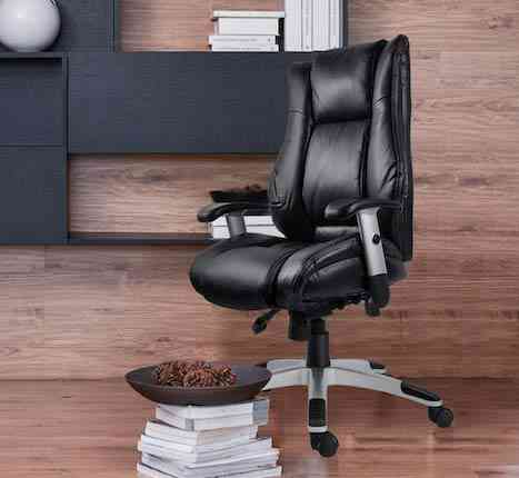 SmugDesk Leather Ergonomic Computer Office Chair