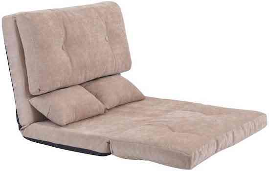 Foldable Floor Loveseat Couch and Sofa for Living Room and Bedroom